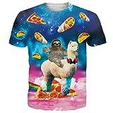 Coole Pizzas Taco Faultier Alpaka T-Shirt