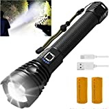 Super Bright Rechargeable Flashlights, 90000 High...