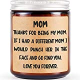 Gifts for Mom from Daughter Son, Best Mom Gifts for Christmas - Christmas Birthday Gifts for Mom, Funny Gifts for Mom, Mom Valentine Gift, Lavender Scented Candles, Soy Candles