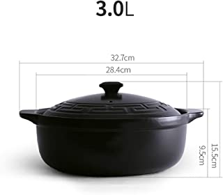 XY&YD Estufa Clay Pot Barro Olla,Cociendo Olla De Estofado Hot Pot Coreano DOLSOT Stone Bowl,Resistente Al Calor Cerámico Cazuela A 3l