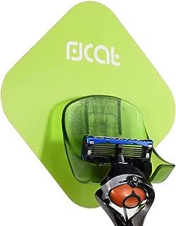 Triwol Razor Holder for Shower Wall, Razor Stand, Compatibility with Gillette Venus Women's Razor, Gillette Fusion/Mach Men's Refill Blade Razor and Other Manual Razor, Green