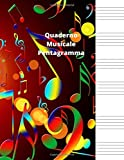 Quaderno Musicale Pentagramma: Quaderno Musicale Pentagramma,Quaderno pentagrammato,quader...