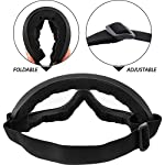 Frienda 4 Pairs Protective Goggles Safety Glasses Eyewear for Teens Game Battle Hiking and Sand Prevention (Black, White) Adjustable Strap and Padded Face