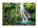 XXL Poster 100 x 70cm (F-234) Wasserfall im tropischen