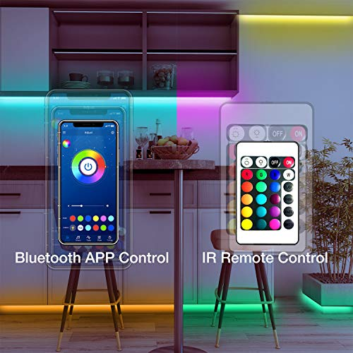 Daybetter SMD 5050 App Control Bluetooth Led Strip Lights- 50ft 2
