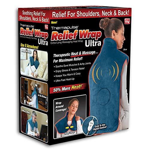 Ontel Thermapulse Relief Wrap Ultra Extra-Long Massaging Heat Wrap
