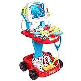 RSTJVB Children's Clinic Toy, Play House Simulation Toy Children's Small Clinic Clinic Equipos Combinados Juego De Juegos,Rojo