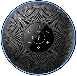 【4 AI Smart Microphones】Le eMeet M2 bluetooth speakerphone de conférence est équipé de 4 microphones omnidirectionnels AI, qui offrent un son surround d'une distance maximale de 8 m. Radio et lecture longue distance à 360 degrés, offrant une qualité ...