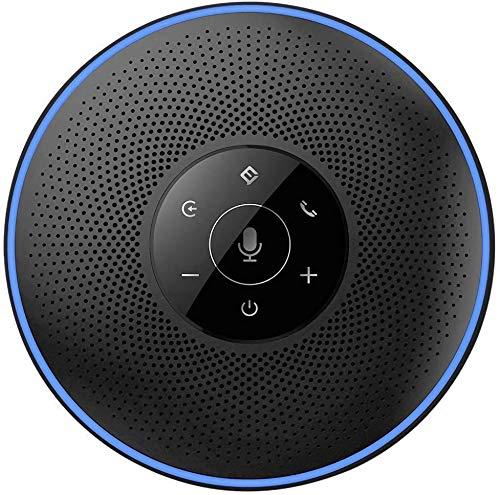 Bluetooth Conférence - eMeet M2 Bluetooth Speakerphone, USB Haut-Parleur Bluetooth pour Conference, 4 AI Microphone, Prise de Voix 360º, Réduction du Bruit, 5-8 Personnes, 8m, Skype, Webinar, Phone
