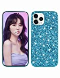 Glitter Case for iPhone 12 6.1 Inch Mobile Phone Case Compatible with Apple iPhone 12 6.1 Case Original Sparkle Design Mobile Phone Cases Silicone Protective Case Glitter Bling Bumper Case SEAno1