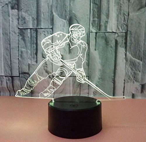 Licht Led 3D Stereo Video Visuelles Licht 3D Hockey Spieler Nachtlicht