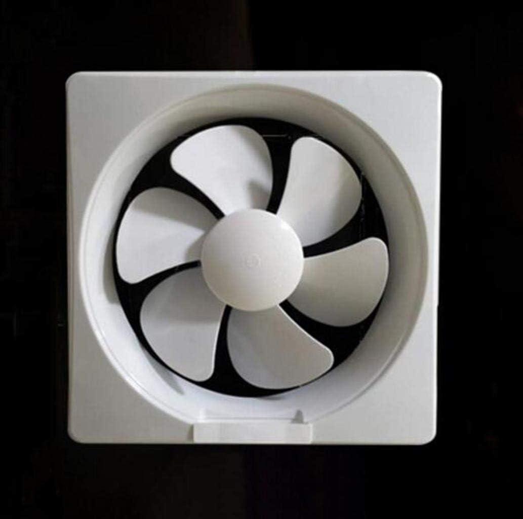 XGHW Ventilador Extractor para Cocina/Inodoro/Baño/Industrial/Extractor de Ventana Blanco/Dorado, Ventilador de plástico de Ahorro de energía silencioso, 12 Pulgadas (Color : White)