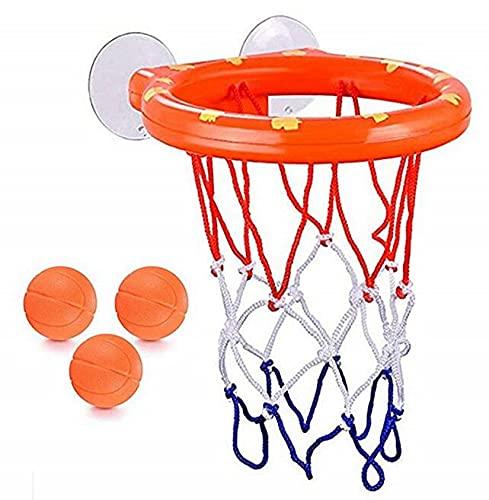 Juego de 3 pelotas de baloncesto con ventosa fuerte para bebés, juguetes de baño para niños, niñas, niños, niños y niñas
