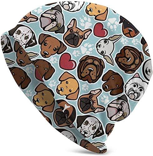 Puppy Dogs Canine Slouchy Beanie Hat Gorra de Calavera de Invierno para Hombres Mujeres Invierno Algodón Slouch Knit Beanie Hat Hip Hop Headwear Negro