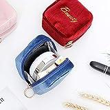 N / A Mini Bolsa de lápiz Labial de Material de Terciopelo portátil con Bolsa de cosméticos Bolsa de Almacenamiento de Maquillaje de Mano Femenina pequeña Bolsa de Almacenamiento 10x9.5x5.5CM