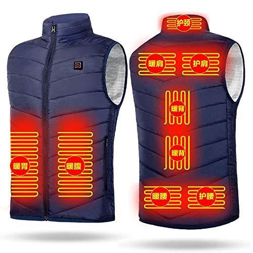 Chaleco calefactor cargando inteligente control de temperatura anti-frío calefacción ropa de invierno...