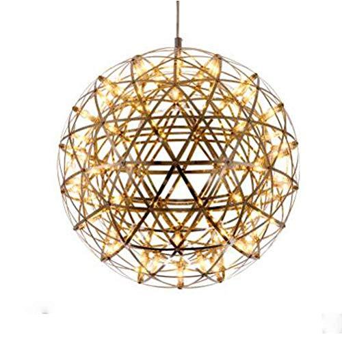 AXFALO Lámpara colgante LED moderna, creativa, redonda, altura regulable, luz blanca cálida, 28 W, decoración, 92 perlas, lámpara de techo para comedor, diámetro de 60 cm