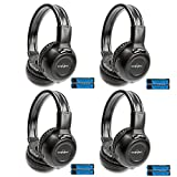 4-Pack Two Channel Folding Adjustable Universal Rear Entertainment Infrared...
