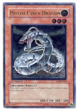 Yu-Gi-Oh! - Proto-Cyber Dragon (SOI-EN010) - Shadow of Infinity - 1st Edition - Ultimate Rare