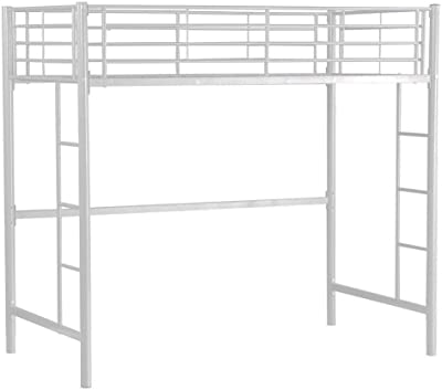Amazon Com Dhp Abode Full Size Loft Bed Metal Frame With Desk