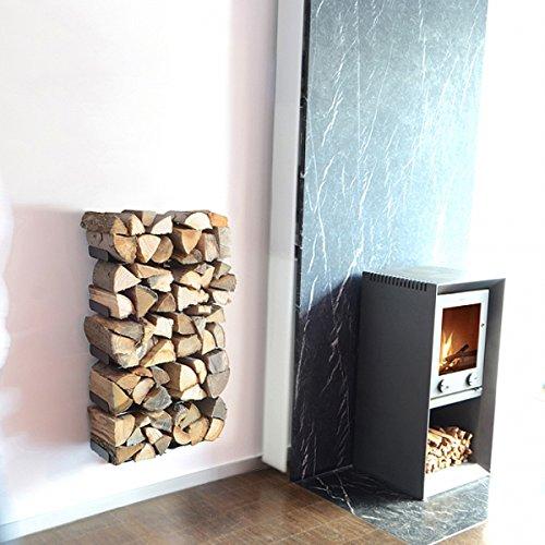 radius wooden tree / wine tree schwarz, WAND, 2tlg. best.aus: Halterung + 10 Einlegeböden