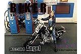 23868 American Diorama Figurine - Biker Angel (1/18 Scale, Black with Blue) 23868 diecast e0g41yxa7 w7855x9gi2 car Model 23868 American Diorama Figurine - Biker Angel. 1:18 sc