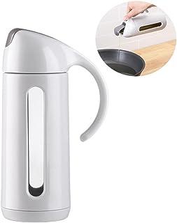 Premium Olive Oil Dispenser with Automatic Lid 320ml AOLVO Durable PP Glass Non-Drip Oil & Vinegar Bottle Pot Cruet and Di...