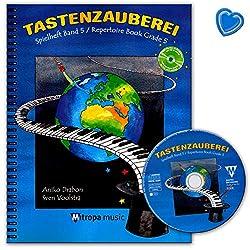 Aniko Drabon 9789043145961 Cahier de jeu Volume 5 avec CD, audio en ligne et pince à partitions colorée en forme de cœur