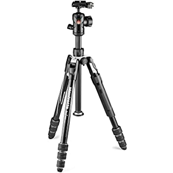 Manfrotto MKBFRTA4B-BHM Befree Advanced 2N1 Travel Tripod with Monopod, Twist Lock, Tripod Bag, Plate and Ball Head Included for Canon, Nikon, Sony, DSLR, CSC, Mirrorless, Up to 8 kg, Aluminium