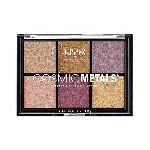 NYX Professional Make Up Cosmic Metals Palette Ombretti, 6 Ombretti Metallizzati