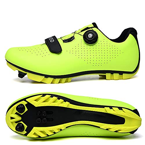 Miwaimao New 2021 MTB Cycling Shoes Men Outdoor Sport Bicycle Shoes Self-Locking Professional Racing Road Bike Shoes yellow-43