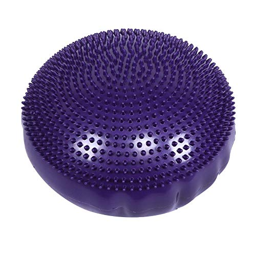 Learn More About Aramox Yoga Cushion, Purple Soft Yoga Balance Board Disc Gym Stability Air Cushion ...