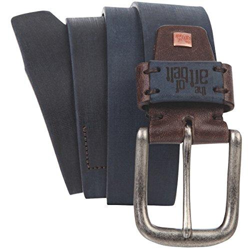 Lindenmann The Art of Belt Womens leather belt/Mens belt, Premium full grain leather belt Unisex, dark blue, Größe/Size:100, Farbe/Color:bleu