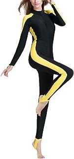サーフィン スーツ 水着 夏 ウォータースポーツ ウェットスーツ - 保守的 スタイル 婦人向け ワンピース と ジッパー Zhhlaixing