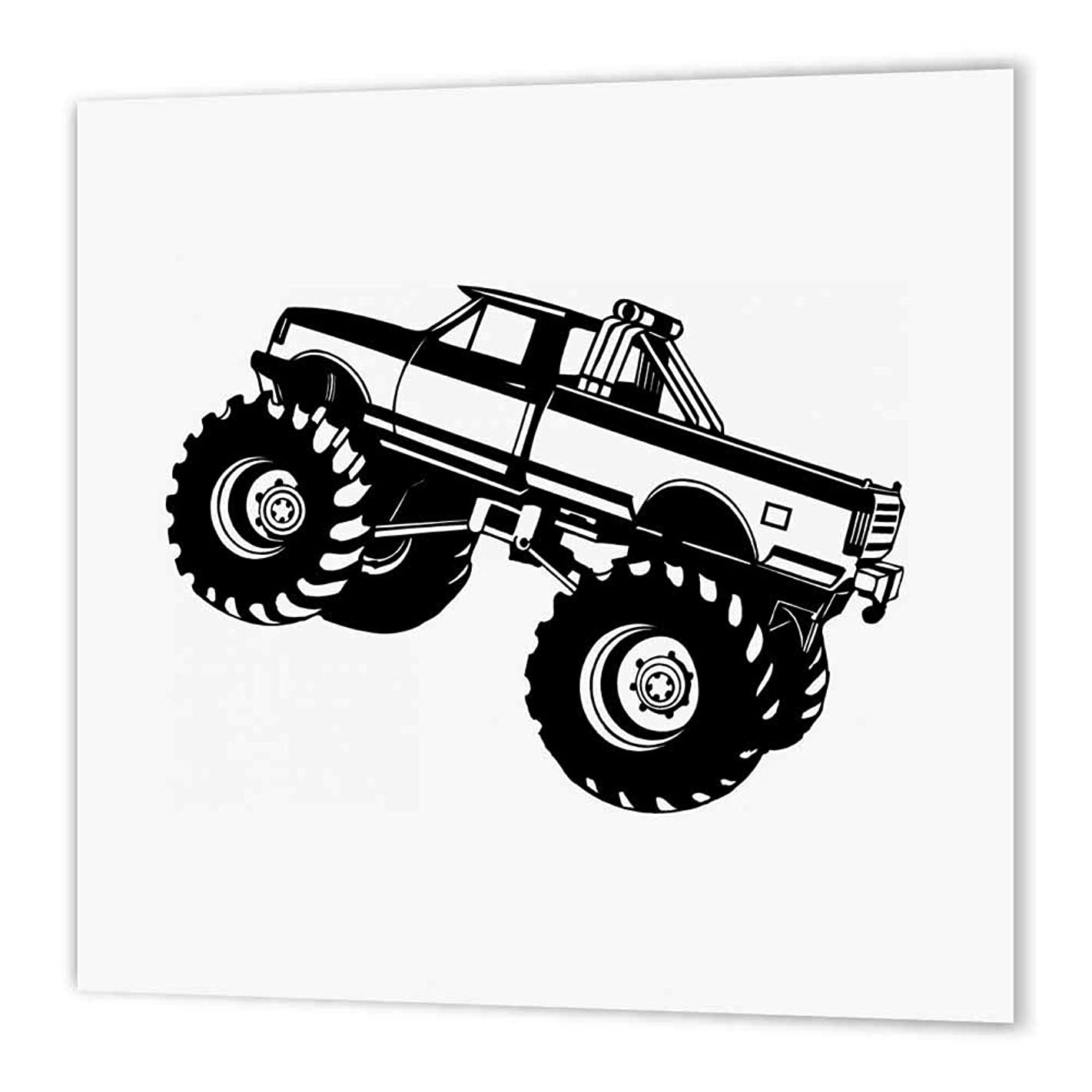 3dRose Monster Truck-Iron on Heat Transfer, 8 by 8