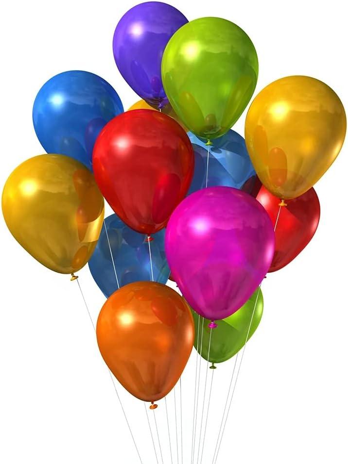 100 Globos Metalizados de Color Mixto, Globos Fiesta de 5 Pulgadas, Globo Metalicos, Globos Forma Redonda, Globos Cumpleaños, Globo Látex para Fiestas de Cumpleaños, Bodas, Aniversarios y Celebracione