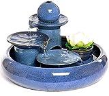 L.TSN Fuente de Agua de sobremesa Cerámica Artesanía casera Fuente Creativa Humidificador de Acuario Fuente de Escritorio Fuente Interior (Color: A)