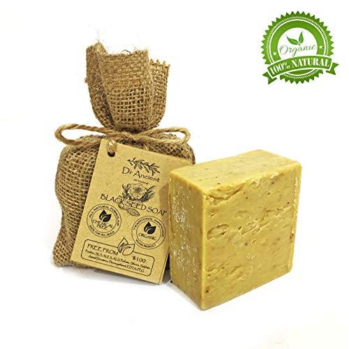 Orgánico natural vegano tradicional hecho a mano antiguo semilla negra barra de jabón - Eficaz para el acné y eczema - Ningunos productos químicos, jabones puros naturales!