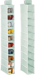 mDesign étagère à Chaussures à 10 casiers en Lot de 2 – Rangement Suspendu en Fibre synthétique pour Chaussures – étagère ...
