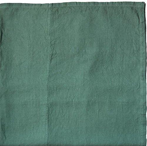 Linum 15WES37700C97 West Tischdecke, Leinen, Dark Grey Turquoise, 330 x 170 x 7 cm