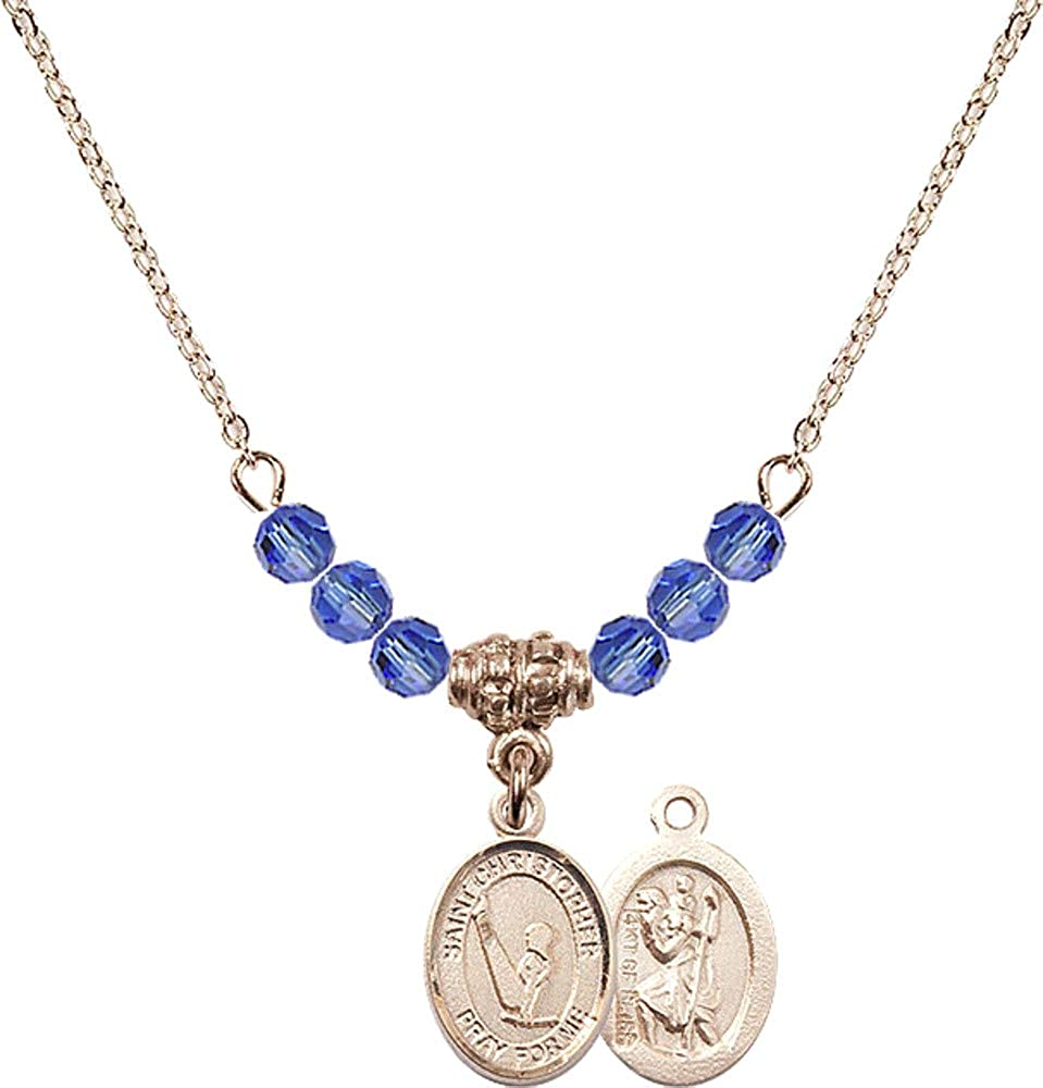 Bonyak Jewelry Tulsa Mall 18 Inch Hamilton Gold Necklace We OFFer at cheap prices w Blue Plated 4mm