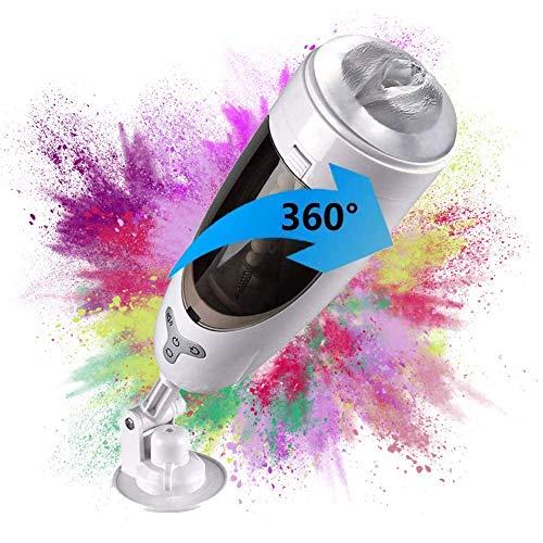 PFMY.DG Automatischer Rotierender Masturbator-Cup Elektrischer Masturbator, 3D Silikon Oralsex Masturbations-Spielzeug 10 Modi Teleskopischer Rotations, Wasserdicht Massagegerät für Männer