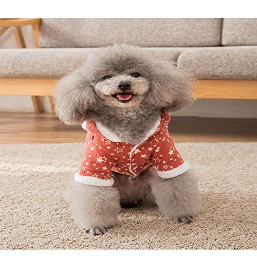 MYYXGS Hund Baumwollmantel Hund Winter Warme Kleidung Haarball Dicke Kleidung Hundemantel TeddybäR Kleiner Hund Katze XXL