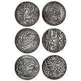 GARNECK 6 Piezas 12 Constelación Moneda Constelación Conmemorativa Recuerdo Colección de Monedas Coleccionables Arte Artesanía Patrón 2