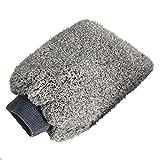 Autowaschhandschuh Mikrofaser, klassischer Waschhandschuh für Autos, Kratzfest-Grau 2 Stück 27 *...