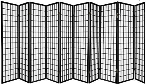 Great Features Of SQUARE FURNITURE Panel Shoji Screen Room Divider 3-10 Panel (10 Panel, Black, Whit...