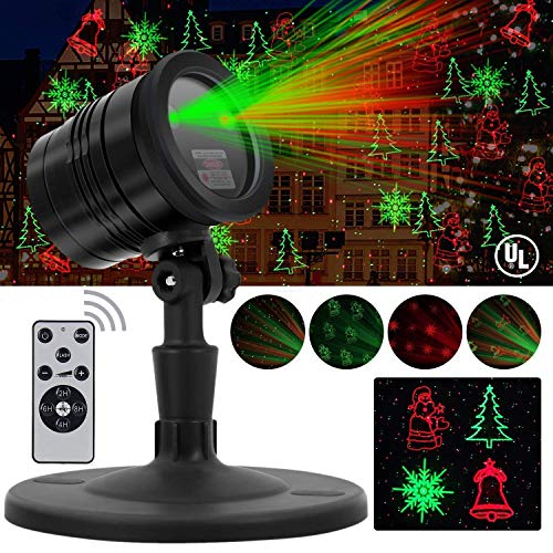 Christmas Laser Lights, Projector for Outdoor Garden Decorations - Waterproof & Timer Preset, Red &...