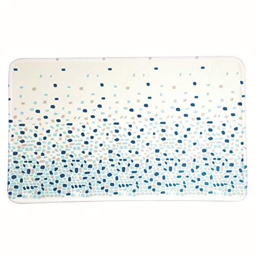 MSV Tapis de Bain, Plastique, Bleu, 45 x 75