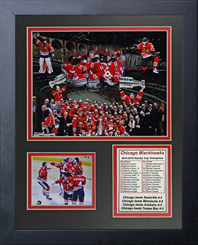 "2015 Chicago Blackhawks - Stanley Cup Champions - Collage 11"" x 14"" Framed Photo Display by Legends Never Die, Inc."