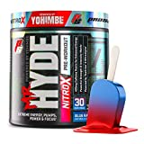 ProSupps Mr. Hyde NitroX Pre-Workout Powder Energy Drink - Intense Sustained Energy, Pumps & Focus with Beta Alanine, Creatine & Nitrosigine, (30 Servings, Blue Razz Popsicle)